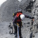 mit Abseilen über die Steilstufen kann man einige Zeit einsparen