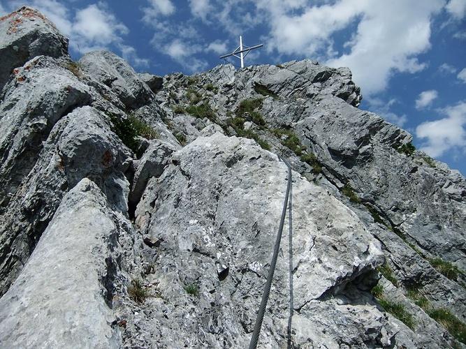 Klettersteig Zittergrat : Ausstieg zittergrat klettersteig fotos hikr
