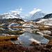 Le Mont Rose et le Liskamm depuis le Riffelsee