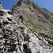 Hanspeter auf den letzten steilen Abstiegsmetern vom Öhrlikopf