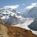 Le sentier menant à la Monte-Rosa-Hütte