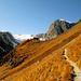 Derniers mètres de montée avant d'arriver à la Schönbielhütte