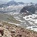 Auf dem Gipfel des Funtenseetauern (2579m), Blick Richtung Lange Gasse (nach Süden) und auf einen Teil meines Aufstieges.