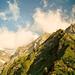 Blick in die Südflanken, durch welche die Aufstiegsroute führt