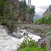 Abstieg nach Kandersteg. Die Kander führt Hochwasser.