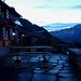 Morgens kurz vor fünf Uhr bei der SAC Salbithütte.