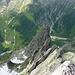 Westgrat des Salbitschijen von der Gipfelnadel aus gesehen.