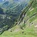 Im Aufstieg auf ca. 2000 m, hinten La Fouly