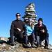 Auf dem Gipfel des Pizzo Quadro 2793m