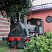 29.06.2012. In Istanbul. - Während eines Aufenthalts auf der Anreise per Flugzeug: <br />Am Bahnhof Sirkeci garı (Istanbul Sirkeci), bekannt als Endstation des Orient-Express, steht diese Lokomotive aus früheren Tagen (Krauss & Cie Locomotivfabrik in München No 380 Patent 1874).
