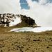 Rückblick auf Camp, Furtwangler Gletschcer und Uhuru Peak