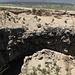 """05.07.2012. Am Meteor Çukuru (Meteoriten-Loch). - Blick in das """"Loch"""" vor dem Hintergrund von Großem und Kleinem Ararat."""