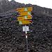 Furocla da Faller 2838mt. Alle spalle del cartello, la cresta del Surparè
