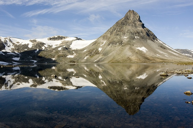 Der atemberaubende Gipfel Kyrkja in Jotunheimen.
