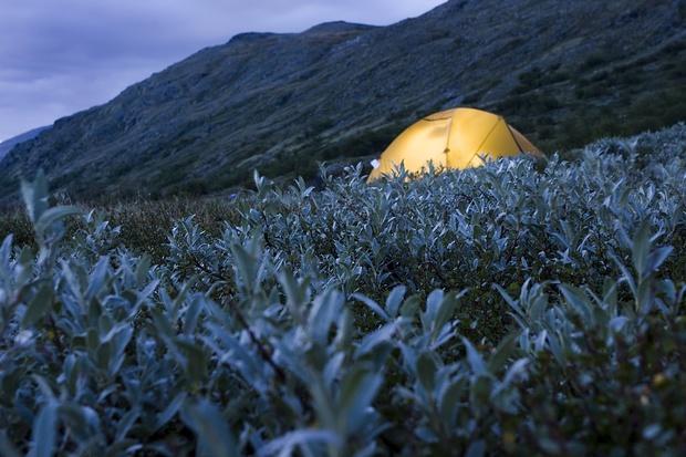 Unser Zelt bei Spiterstulen.