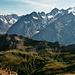 Blick auf die hohen Gipfel der Dauphiné.