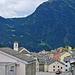 Simplon Dorf. Blick hinüber zum Furggu, dem Übergang von Zwischbergen nach Gabi.