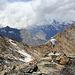 Blick vom Plattenhorn zum Kanzilti und Almagellerhorn