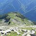 cresta est del Madone di Camedo in discesa verso il valico Q2121