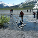 In der Ebene des Gletscher-Abflusses