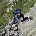 Il nostro eroe Jgor in arrampicata sulle prime rocce della Costa del Termine...