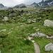 Aufstiegsweg zur Hütte