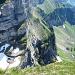 Ehrfürchtiger Tiefblick auf den Schnüerliweg-Einstieg in der Stollenfurgge