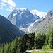 Mont Collon vom Aufstiegeweg
