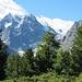 Mont Collon 3637 m vom Aufstiegsweg zur <br />Remointse de Pra Gra