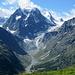 Blick in das Talende des Val d´Arolla vom Aufstiegsweg
