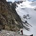 Abstieg vom Eisseepass -  eine bröselige Angelegenheit
