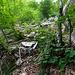 Abstieg von Bergnauri nach Pönn - neuer Felssturz ist hinderlich