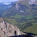 Bergsteigerschatten - im Hintergrund die Schrattenfluh