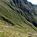 Scendiamo all' Alpe Malpensata, restano solo i ruderi, ma i bollini non mancano