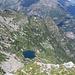 Il Lago ed il rifugio di Starlaresc dalla cima del Madom da Sgiof.
