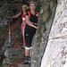 Francesca e Daniela su un breve tratto attrezzato prima di Pian del Vald.