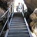 eine letzte Treppe