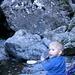 kühle Zvieripause im Bachbettaufstieg