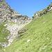 La Bocchetta della Campala vista dal versante di Val Vegornèss