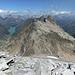 Piz Blas: Blick gegen Norden zur Fuorcla dil Blas und dem Piz Uffiern. Links der Lai da Curnera, rechts gerade noch erkennbar der Lai da Nalps.