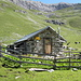 la minuscola capanna dell'alp Zavretta (l'unica della valle)