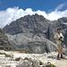 Zwischen der Zsigmondy- und der Büllelejochhütte, Blick zum Elferkofel mit dem Alpinisteig