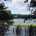 Am Grunewaldsee: Blick hinüber zum Jagdschloss Grunewald am südlichen Ufer.