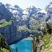 Grandios - Blick zum Oeschinensee auf dem Weg zum Oberbärgli
