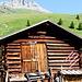 Hinter der Hütte der Piz Arblatsch
