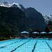 L'idyllique piscine de Lauterbrunnen (24°) !