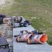 Die reguläre Bergschuhausstellung zum Feierabend (und wieder mal haben Scarpa und La Sportiva die Nase vorn...)
