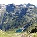 Lago d'Efra und die großen Gipfel