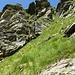erster Steilabstieg nach der Cima del Rosso 2. Perspektive