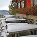 Gasthof Köbelisberg, der Schnee verdrängt die Geranien